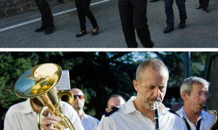 Banda musicale, fanfara dei bersaglieri in pensione