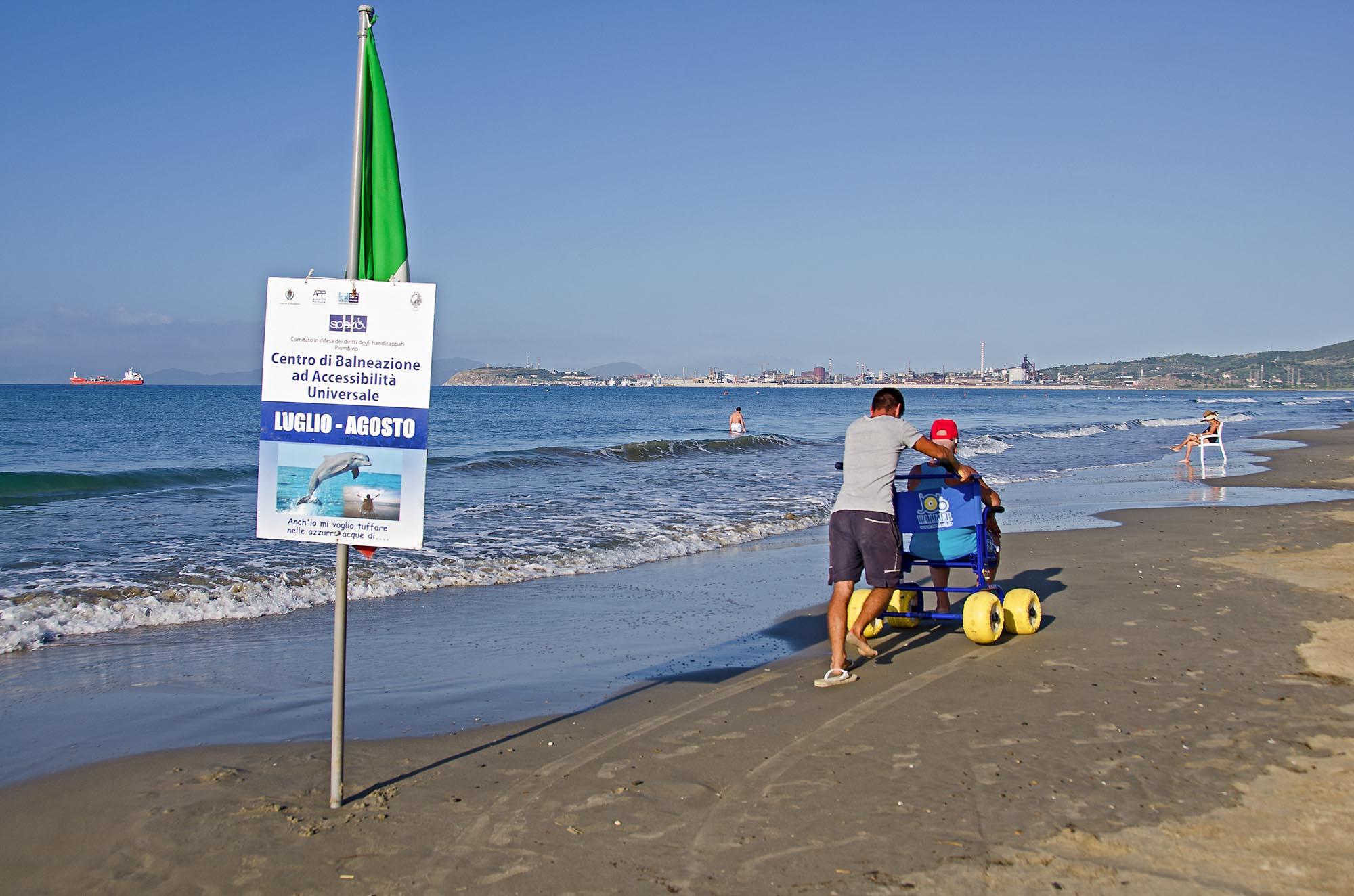 0145 Assistenza bagnanti con disabilita - Assistenza disabili in spiaggia, tutti al mare