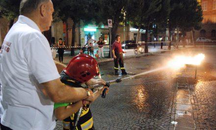 Manifestazione vigili del fuoco